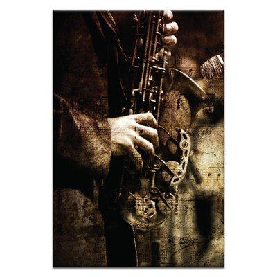 Artist Lane Old Sax by Caroline Gorka Photographic Print Wrapped on Canvas