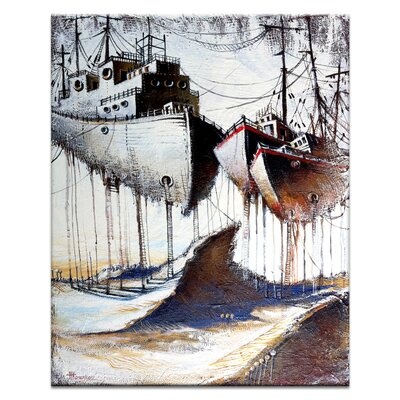 Artist Lane Moored to The Land by Olena Kosenko Graphic Art on Canvas