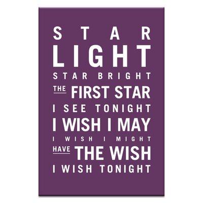 Artist Lane Star Light Star Bright by Nursery Canvas Art in Purple
