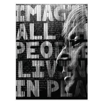 Artist Lane Imagine by Coco Graphic Art on Canvas in Black