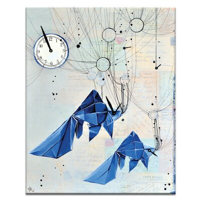 Artist Lane Fishing for Time by Olena Kosenko Graphic Art Wrapped on Canvas