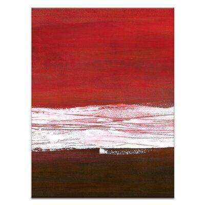 Artist Lane White Line Divide 2 by Teresa Ventura Art Print Wrapped on Canvas