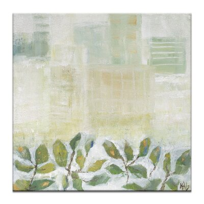 Artist Lane Growth 1 by Karen Hopkins Art Print Wrapped on Canvas in Green/White