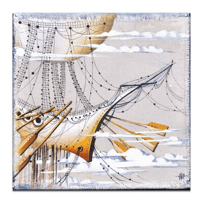 Artist Lane Cloudy Day Dreams by Olena Kosenko Graphic Art Wrapped on Canvas