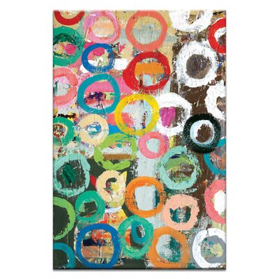 Artist Lane Coloured Circles by Anna Blatman Art Print Wrapped on Canvas