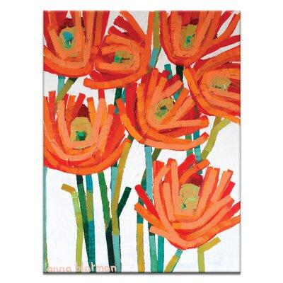 Artist Lane Orange Buds by Anna Blatman Art Print on Canvas