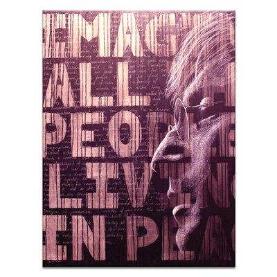 Artist Lane Imagine by Coco Graphic Art on Canvas in Chocolate