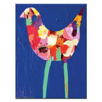 Artist Lane Long Leg Bird by Anna Blatman Art Print Wrapped on Canvas