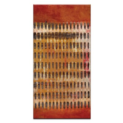 Artist Lane Ad Infinitum #15 by Katherine Boland Art Print Wrapped on Canvas in Red/Brown