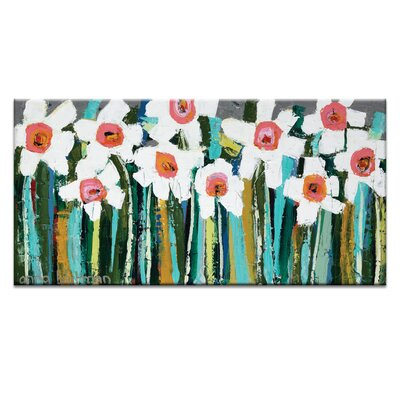 Artist Lane Country Garden by Anna Blatman Art Print Wrapped on Canvas