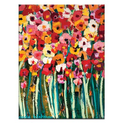 Artist Lane Lovely Poppies by Anna Blatman Art Print Wrapped on Canvas