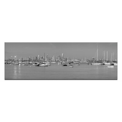Artist Lane Twilight at Williamstow by Andrew Brown Photographic Print on Canvas in Black/White
