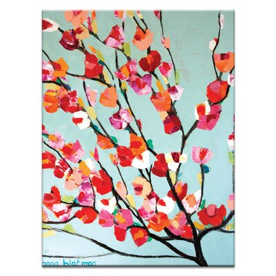 Artist Lane Magnolia Bloom by Anna Blatman Art Print on Canvas
