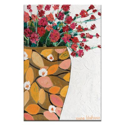 Artist Lane Golden Geranium by Anna Blatman Art Print Wrapped on Canvas