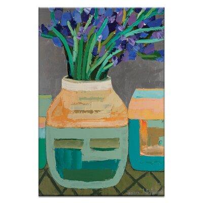 Artist Lane Iris Pot by Anna Blatman Art Print on Canvas