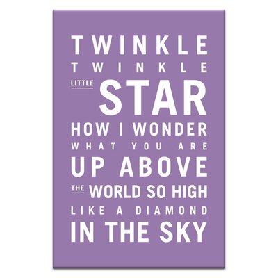 Artist Lane Twinkle, Twinkle Little Star by Nursery Canvas Art in Purple