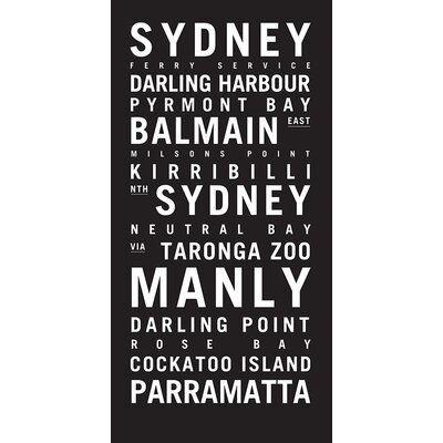 Artist Lane 'Sydney 2' by Tram Scrolls Typography on Wrapped Canvas