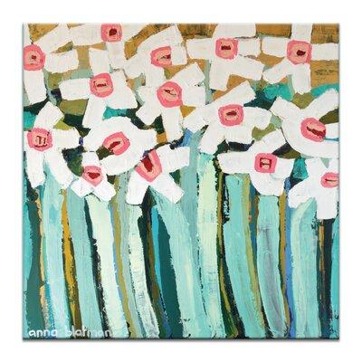 Artist Lane White Daisies by Anna Blatman Art Print Wrapped on Canvas