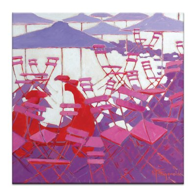 Artist Lane Red Vespa by Catherine Fitzgerald Art Print Wrapped on Canvas