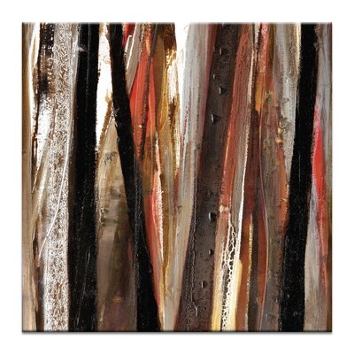 Artist Lane Treeline in Red #1 by Katherine Boland Art Print Wrapped on Canvas in Black/Brown