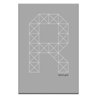 Artist Lane Geotype R by Steve Leadbeater Graphic Art Wrapped on Canvas in Grey
