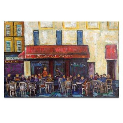 Artist Lane Cafe by Anna Blatman Art Print Wrapped on Canvas
