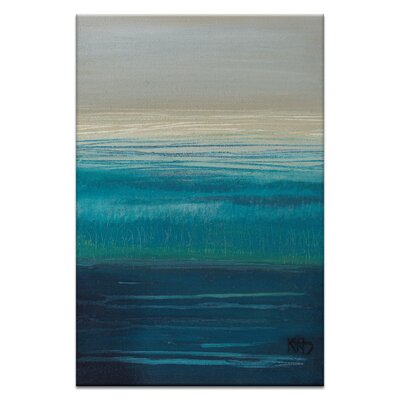 Artist Lane Distant Shores by Karen Hopkins Art Print on Canvas in Blue