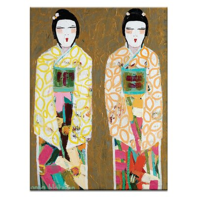 Artist Lane Double Geisha by Anna Blatman Art Print on Canvas