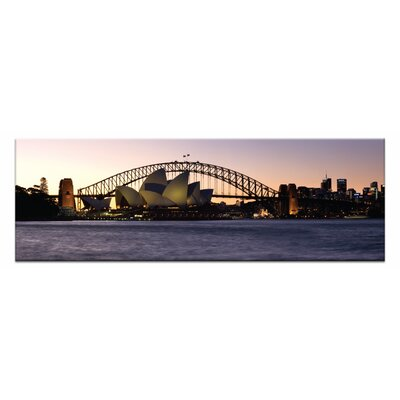 Artist Lane Opera Twilight by Andrew Brown Photographic Print on Canvas in Orange