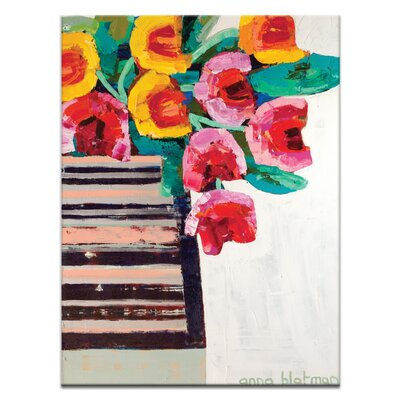 Artist Lane Tulips by Anna Blatman Art Print Wrapped on Canvas