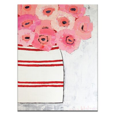 Artist Lane Poppy Jar by Anna Blatman Art Print Wrapped on Canvas in Pink