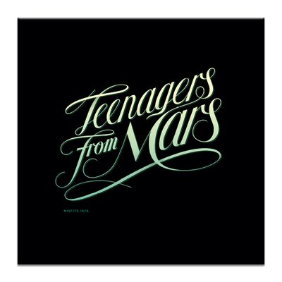 Artist Lane Teenagers from Mars by Steve Leadbeater Typography Wrapped on Canvas