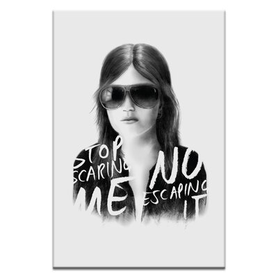 Artist Lane Stop Scaring Me by Steve Leadbeater Graphic Art on Canvas in Gray