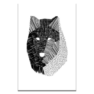 Artist Lane Wolf Mask by Ayarti Graphic Art on Canvas in Black