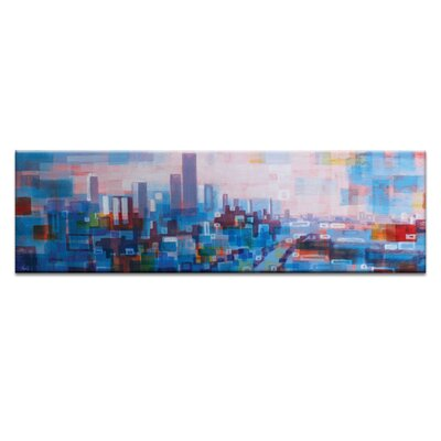 Artist Lane Colourful Melbourne by Jennifer Webb Art Print on Canvas