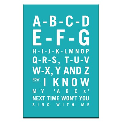 Artist Lane ABC by Nursery Canvas Art in Teal