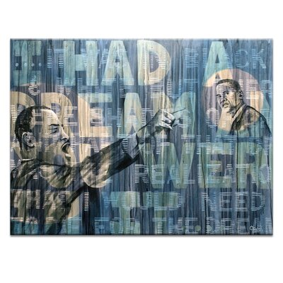 Artist Lane Dr King and Barac by Coco Graphic Art on Canvas in Blue