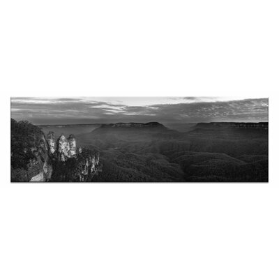 Artist Lane Three Sisters Sunse by Andrew Brown Photographic Print on Canvas in Black