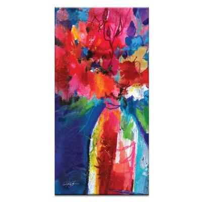 Artist Lane Floral Fantasy 22 by Kathy Morton Stanion Art Print Wrapped on Canvas