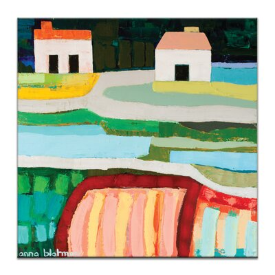 Artist Lane Farm Houses 1 by Anna Blatman Art Print on Canvas