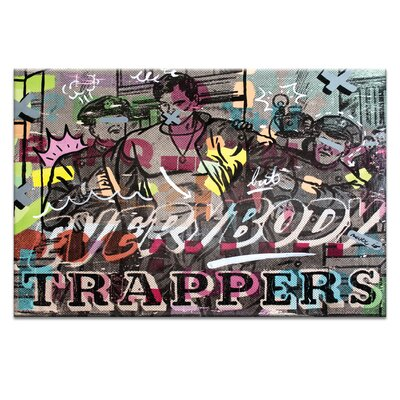 Artist Lane Everybody Trappers by Dan Monteavaro Graphic Art Wrapped on Canvas