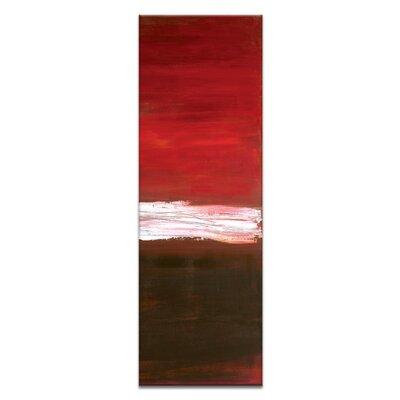 Artist Lane White Line Vertical 3 by Teresa Ventura Art Print Wrapped on Canvas