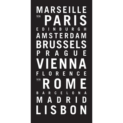 Artist Lane 'Europe 1' by Tram Scrolls Typography on Wrapped Canvas
