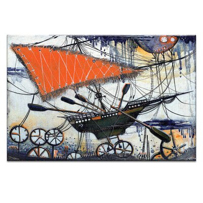 Artist Lane Moon Chasing by Olena Kosenko Graphic Art Wrapped on Canvas