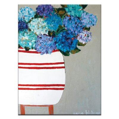 Artist Lane Blue Geraniums by Anna Blatman Art Print Wrapped on Canvas