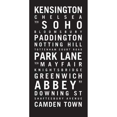 Artist Lane 'London 2' Typography on Wrapped Canvas