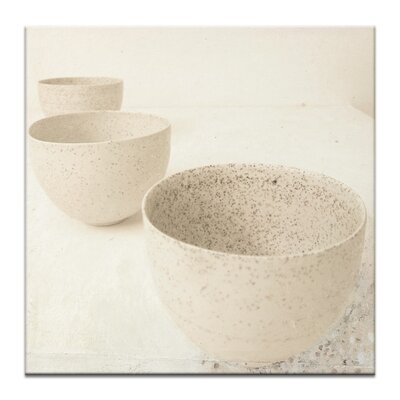 Artist Lane 3 Zen Cups by Gill Cohn Photographic Print Wrapped on Canvas in Beige