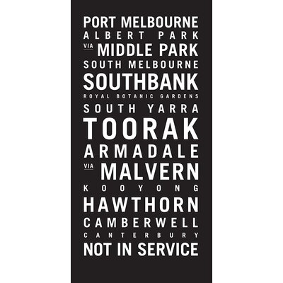 Artist Lane 'Melbourne 2' Typography on Wrapped Canvas