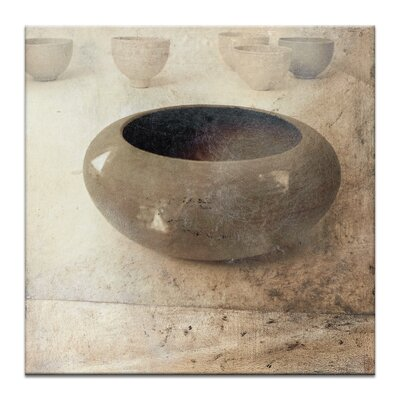 Artist Lane Textured Pots by Gill Cohn Graphic Art on Canvas in Brown