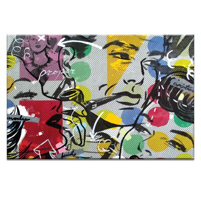 Artist Lane Proper by Dan Monteavaro Graphic Art Wrapped on Canvas